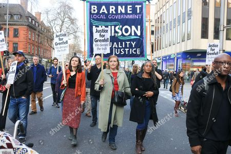 Labour MP for Kensington Emma Dent Coad joined Bereaved, survivors and community members of Grenfell Tower fire from Kensington and Chelsea Town Hall on the 10th month anniversary of the Grenfell fire disaster to demand justice and rehousing for the families that were affected