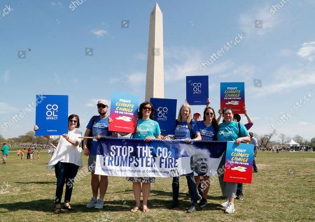 Editorial photo of Cool Effect Debuts Carbon Can't Hide at March for Science, Washington, USA - 14 Apr 2018