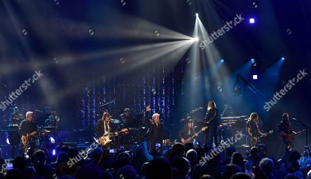 Bon Jovi performs during the Rock and Roll Hall of Fame Induction ceremony, in Cleveland