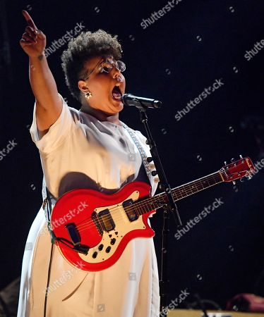 Brittany Howard performs during the Rock and Roll Hall of Fame induction ceremony, in Cleveland