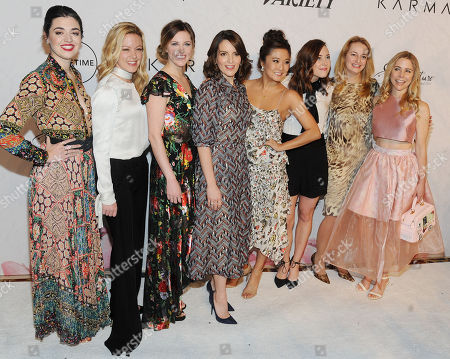 Barrett Wilbert, Kerry Butler, Taylor Louderman, Tina Fey, Ashley Park, Erika Henningsen. Kate Rockwell