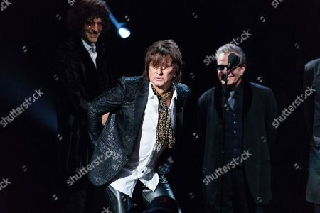 Richie Sambora, Tico Torres, Howard Stern. Howard Stern, left, Richie Sambora, and Tico Torres are seen at the 2018 Rock and Roll Hall of Fame Induction Ceremony at Cleveland Public Auditorium, in Cleveland, Ohio