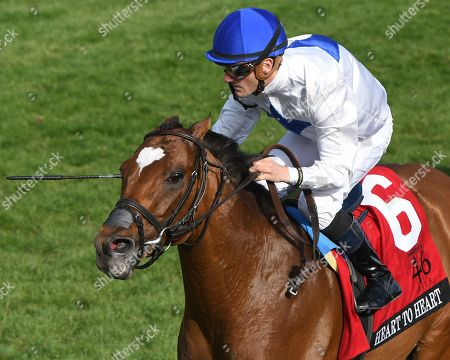 Heart to Heart, Julien Leparoux win the G1 Maker's 46 Mile Stakes, trained by Brian Lynch, Keeneland Race Track, Lexington, KY 4/13/18,