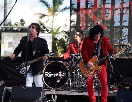 Wally Palmar, Brad Elvis, Mike Skill. Wally Palmar, from left, Brad Elvis and Mike Skill of The Romantics perform at Magic City Casino on in Miami, Fla