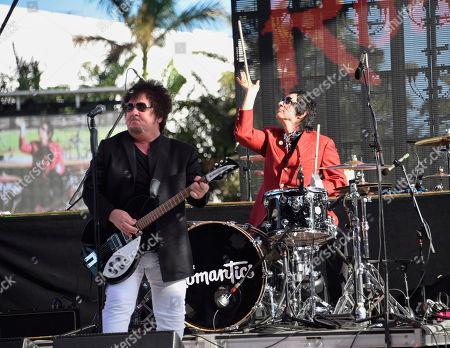 Wally Palmar, Brad Elvis. Wally Palmar, left, and Brad Elvis of The Romantics perform at Magic City Casino on in Miami, Fla