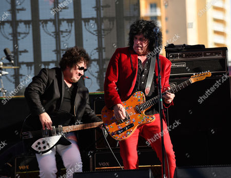 Wally Palmar, Mike Skill. Wally Palmar, left, and Mike Skill of The Romantics perform at Magic City Casino on in Miami, Fla