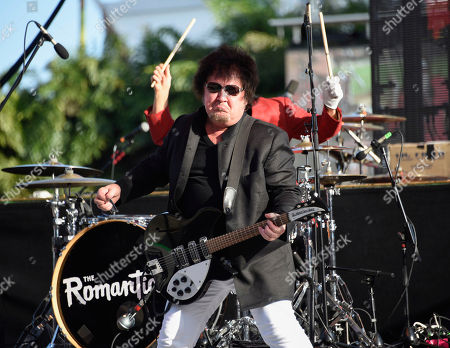 Stock Image of Wally Palmar of The Romantics performs at Magic City Casino on in Miami, Fla