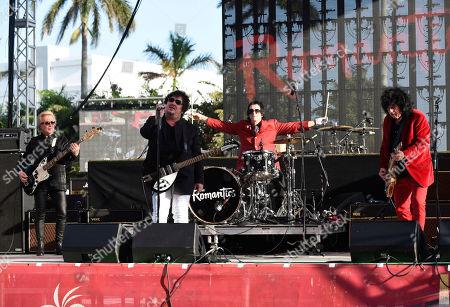 Rich Cole, Wally Palmar, Brad Elvis, Mike Skill. Rich Cole, from left, Wally Palmar, Brad Elvis and Mike Skill of The Romantics perform at Magic City Casino on in Miami, Fla