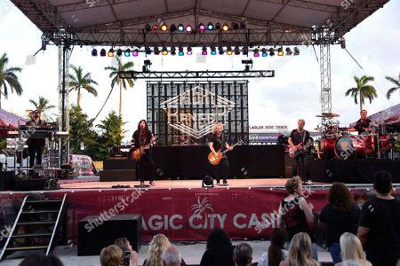 Eric Levy, Keri Kelli, Jack Blades, Brad Gillis, Kelly Keagy. Eric Levy, from left, Keri Kelli, Jack Blades, Brad Gillis and Kelly Keagy of the Night Ranger perform at Magic City Casino on in Miami, Fla