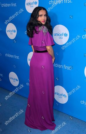Salma Hayek arrives at 7th Biennial UNICEF Ball at the Beverly Wilshire Hotel, in Beverly Hills, Calif