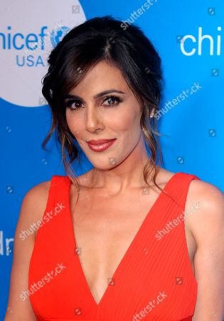 Megan Henderson arrives at the 7th Biennial UNICEF Ball at the Beverly Wilshire Hotel on Saturday, April 14,2018, in Beverly Hills, Calif