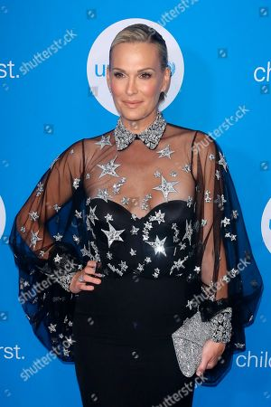 Molly Sims arrives at the 7th Biennial UNICEF Ball at the Beverly Wilshire Hotel on Saturday, April 14,2018, in Beverly Hills, Calif