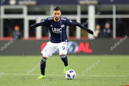 , 201; Foxborough, MA, USA; New England Revolution defender Gabriel Somi (91) in action during an MLS match between FC Dallas and New England Revolution at Gillette Stadium. Dallas defeated New England 1-0