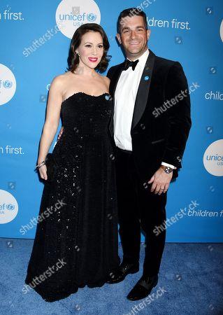 Alyssa Milano and Dave Bugliari