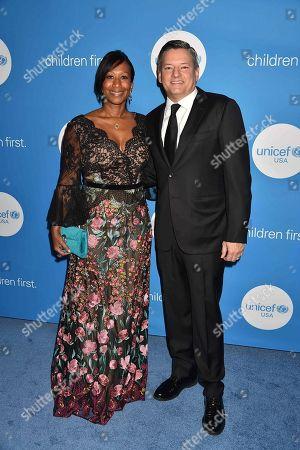 Former U.S. Ambassador Nicole Avant and COO of Netflix Ted Sarandos