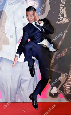 Stock Image of Thailand actor Tony Jaa poses on the red carpet of the Hong Kong Film Awards in Hong Kong