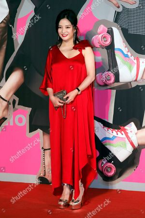 Chinese actress Zhao Wei poses on the red carpet of the Hong Kong Film Awards in Hong Kong
