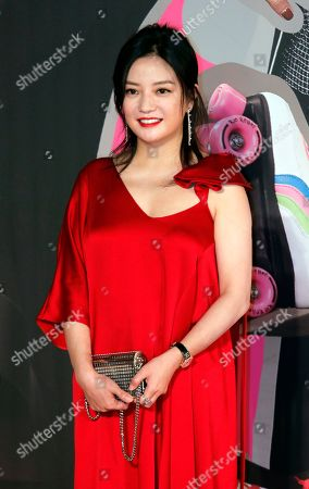 Stock Photo of Chinese actress Zhao Wei poses on the red carpet of the Hong Kong Film Awards in Hong Kong