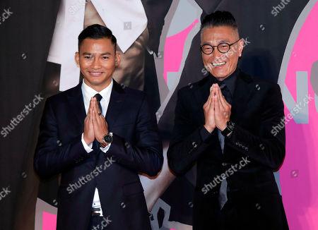 Tony Jaa, Ken Lo Wai-Kwong. Thailand actor Tony Jaa, left, and Hong Kong actor Ken Lo Wai-Kwong pose on the red carpet of the Hong Kong Film Awards in Hong Kong