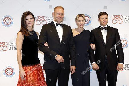 Nerine and Francois Pienaar, Princess Charlene of Monaco and Gareth Wittstock