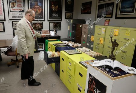 Center for Ray Bradbury Studies director Jonathan Eller talks about the archival area of the Center for Ray Bradbury Studies includes the author's files in the original filing cabinets from his homes in Los Angeles and Palm Springs, in Indianapolis
