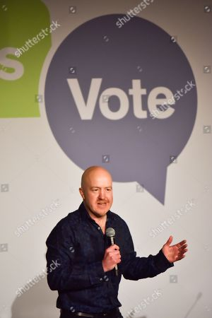 Andy Parsons. The People's Vote campaign launch event in Camden Town, demanding a public vote on the final Brexit deal between the UK and the EU.
