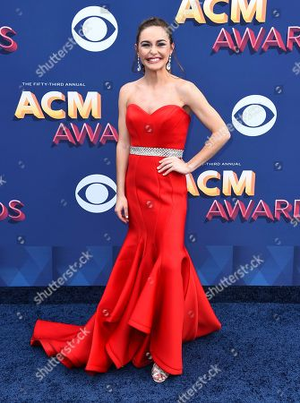 Editorial photo of 53rd Annual Academy Of Country Music Awards - Arrivals, Las Vegas, USA - 15 Apr 2018