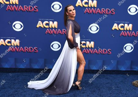 Mickie James arrives at the 53rd annual Academy of Country Music Awards at the MGM Grand Garden Arena, in Las Vegas
