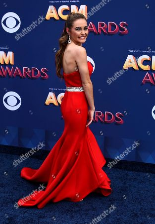 Stock Image of Kaylin Roberson arrives at the 53rd annual Academy of Country Music Awards at the MGM Grand Garden Arena, in Las Vegas