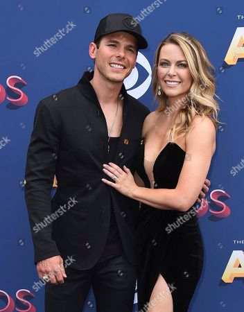 Granger Smith, Amber Bartlett. Granger Smith, left, and Amber Bartlett arrive at the 53rd annual Academy of Country Music Awards at the MGM Grand Garden Arena, in Las Vegas
