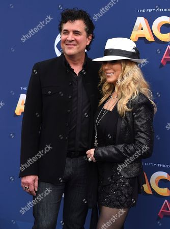 Stock Photo of Scott Borchetta, Sandi Spika Borchetta. Scott Borchetta, left, and Sandi Spika Borchetta arrive at the 53rd annual Academy of Country Music Awards at the MGM Grand Garden Arena, in Las Vegas