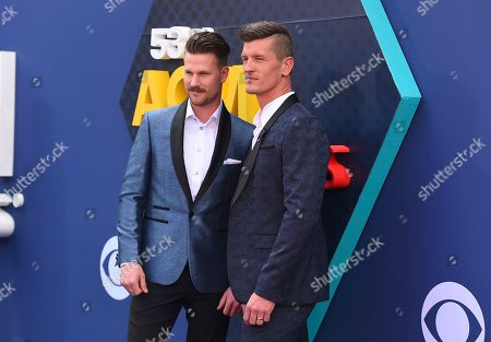 Curtis Rempel, Brad Rempel. Curtis Rempel, left, and Brad Rempel, of High Valley, arrive at the 53rd annual Academy of Country Music Awards at the MGM Grand Garden Arena, in Las Vegas