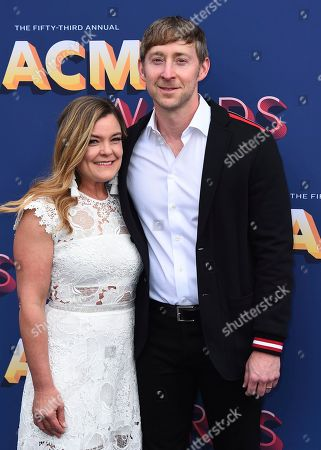 Ashley Gorley, Mandy Gorley. Ashley Gorley, right, and Mandy Gorley arrive at the 53rd annual Academy of Country Music Awards at the MGM Grand Garden Arena, in Las Vegas