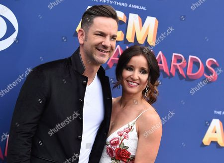 Craig Campbell,Mindy Ellis. Craig Campbell, left, and Mindy Ellis arrive at the 53rd annual Academy of Country Music Awards at the MGM Grand Garden Arena, in Las Vegas