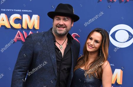 Lee Brice, Sara Reeveley. Lee Brice, left, and Sara Reeveley arrive at the 53rd annual Academy of Country Music Awards at the MGM Grand Garden Arena, in Las Vegas