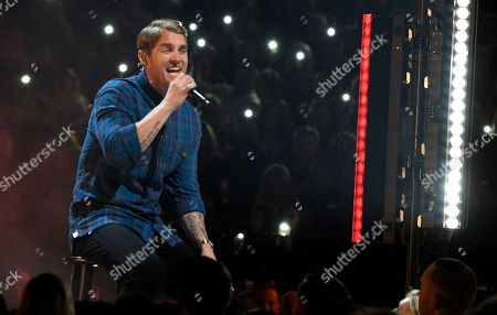 """Brett Young performs """"In Case You Didn't Know"""" at the 53rd annual Academy of Country Music Awards at the MGM Grand Garden Arena, in Las Vegas"""