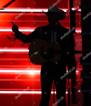 """Jon Pardi appears on stage before performing """"Chattahoochee"""" at the 53rd annual Academy of Country Music Awards at the MGM Grand Garden Arena, in Las Vegas"""