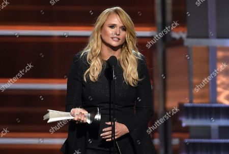Miranda Lambert accepts the award for female vocalist of the year at the 53rd annual Academy of Country Music Awards at the MGM Grand Garden Arena, in Las Vegas