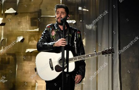 """Thomas Rhett performs """"Marry Me"""" at the 53rd annual Academy of Country Music Awards at the MGM Grand Garden Arena, in Las Vegas"""