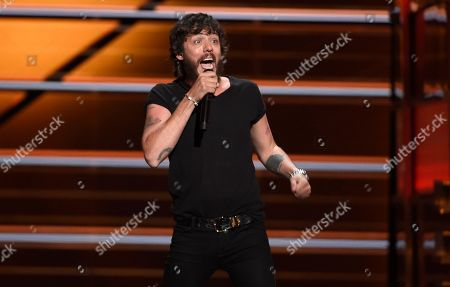 """Chris Janson performs """"Redneck Life"""" at the 53rd annual Academy of Country Music Awards at the MGM Grand Garden Arena, in Las Vegas"""