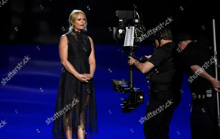 Miranda Lambert speaks at the 53rd annual Academy of Country Music Awards at the MGM Grand Garden Arena, in Las Vegas