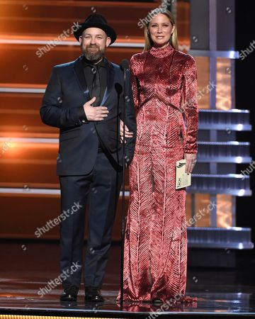 Kristian Bush, Jennifer Nettles. Kristian Bush, left, and Jennifer Nettles, of Sugarland, present the award for album of the year at the 53rd annual Academy of Country Music Awards at the MGM Grand Garden Arena, in Las Vegas