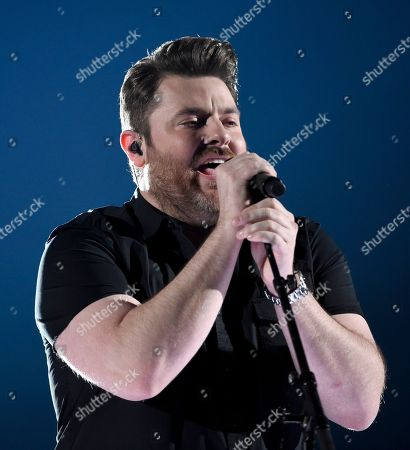 """Chris Young performs """"Losing Sleep"""" at the 53rd annual Academy of Country Music Awards at the MGM Grand Garden Arena, in Las Vegas"""