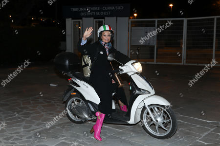 Editorial image of Hanna Karttunen out and about, Rome, Italy - 14 Apr 2018