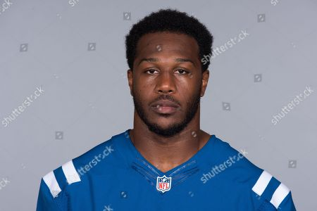 Stock Photo of Akeem Ayers of the Indianapolis Colts NFL football team. This image reflects the Indianapolis Colts active roster as of when this image was taken