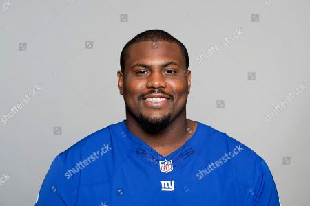 Michael Bowie of the New York Giants NFL football team. This image reflects the New York Giants active roster as of when this image was taken