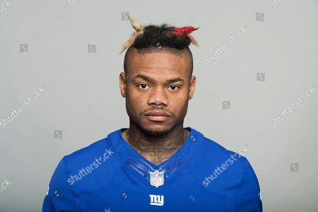 Valentino Blake of the New York Giants NFL football team. This image reflects the New York Giants active roster as of when this image was taken