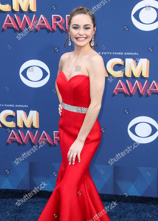 Editorial picture of 53rd Annual Academy of Country Music Awards, Arrivals, Las Vegas, USA - 15 Apr 2018 - 15 Apr 2018