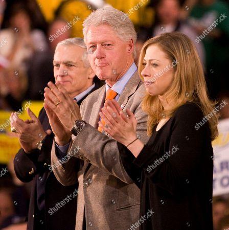 General Wesley Clark, President Bill Clinton and Chelsea Clinton