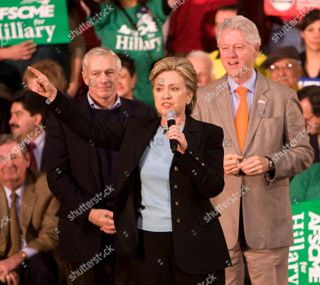 Hillary Clinton with General Wesley Clark and Bill Clinton